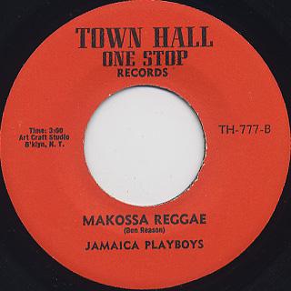 Nairobi Afro Band / Soul Makossa (No.1) c/w Jamaica Playboys / Makossa Reggae back