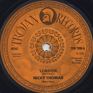 Nicky Thomas / London c/w What Love Is
