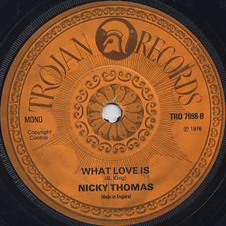 Nicky Thomas / London c/w What Love Is back