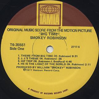 O.S.T.(Smokey Robinson) / Big Time label