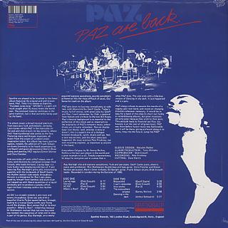 Paz / Paz Are Back back