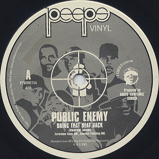 Public Enemy / Bring That Beat Back c/w New Whirl Odor front