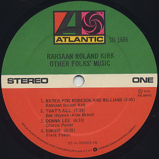 Rahsaan Roland Kirk / Other Folks' Music label