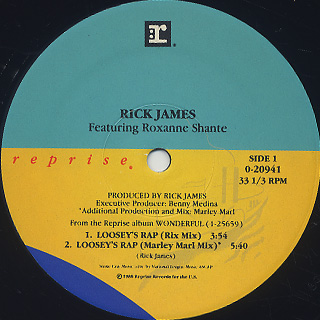 Rick James / Loosey's Rap label