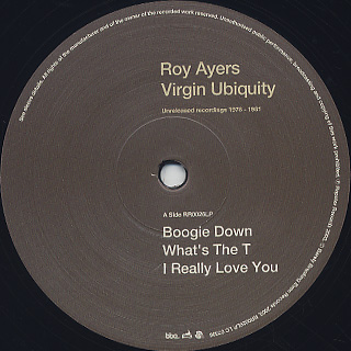 Roy Ayers / Virgin Ubiquity(Unreleased Recordings 1976-1981) label