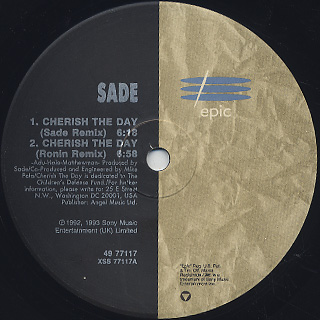 Sade / Cherrish The Day label