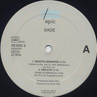Sade / Smooth Operator label