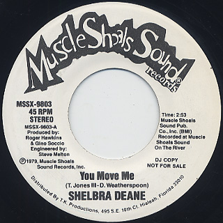 Shelbra Deane / You Move Me c/w Seeing You Again front
