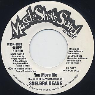 Shelbra Deane / You Move Me c/w Seeing You Again