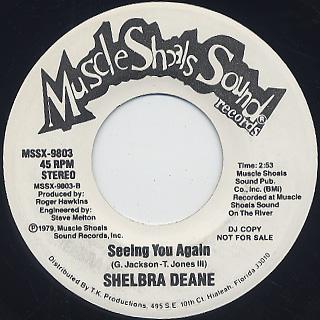 Shelbra Deane / You Move Me c/w Seeing You Again back