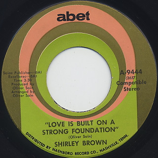 Shirley Brown / I Ain't Gonna Tell back
