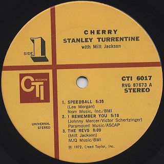 Stanley Turrentine with Milt Jackson / Cherry label