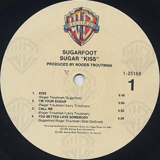 Sugarfoot / Sugar Kiss label