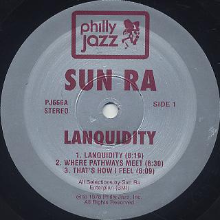 Sun Ra / Lanquidity label