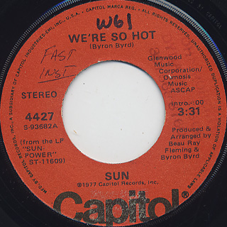Sun / We're So Hot c/w Conscience