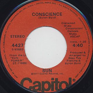 Sun / We're So Hot c/w Conscience back