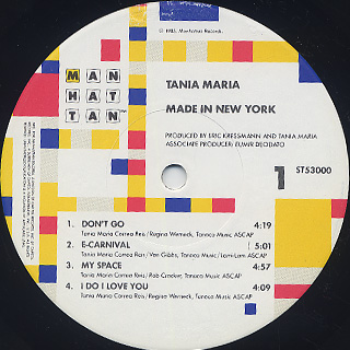 Tania Maria / Made In New York label