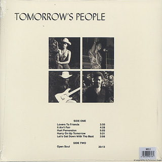 Tomorrow's People / Open Soul back