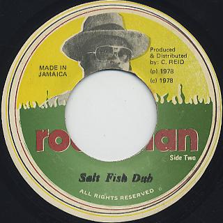 Trinity / Salt Fish c/w Salt Fish Dub back