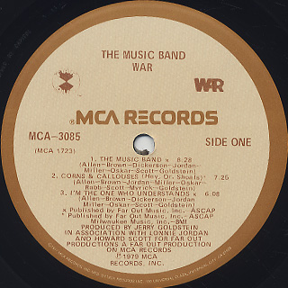 War / The Music Band label