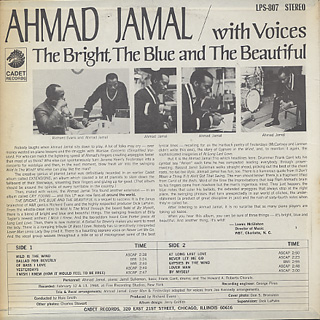 Ahmad Jamal / The Bright, The Blue and The Beautiful back