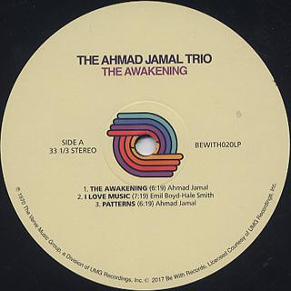 Ahmad Jamal Trio / The Awakening label