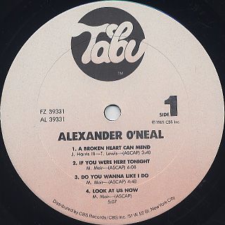 Alexander O'Neal / S.T. label