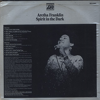 Aretha Franklin / Spirit In The Dark back