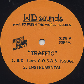 B.D. feat. C.O.S.A. & ISSUGI / Traffic label