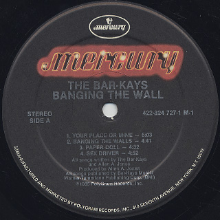 Bar-Kays / Banging The Wall label