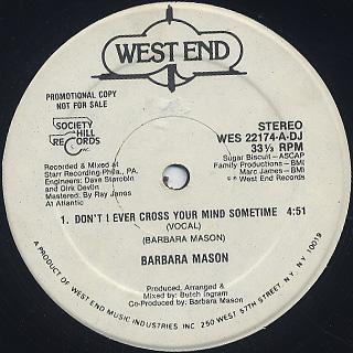 Barbara Mason / Don't I Ever Cross Your Mind