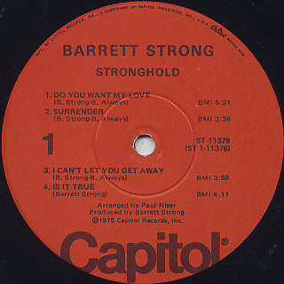 Barrett Strong / Stronghold label