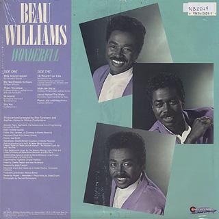 Beau Williams / Wonderful back