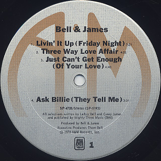 Bell & James / S.T. label