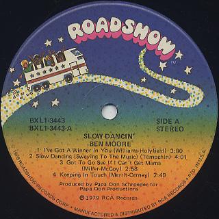 Ben Moore / Slow Dancin' label