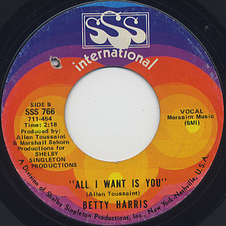 Betty Harris / There's A Break In The Road back