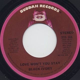 Black Ivory / Love Won't You Stay