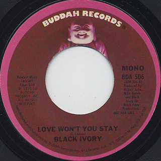 Black Ivory / Love Won't You Stay back