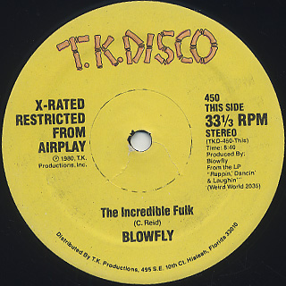 Blowfly / The Incredible Fulk front
