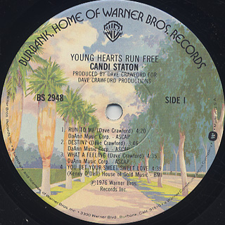 Candi Staton / Young Hearts Run Free label