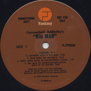 Cannonball Adderley / Big Man label