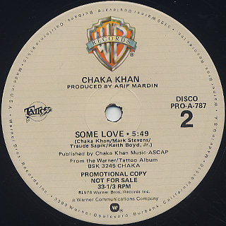 Chaka Khan / Life Is A Dance c/w Some Love (12