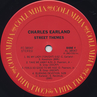 Charles Earland / Earland's Street Theme label