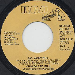 Chocolate Milk / Say Won'tcha (7