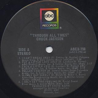 Chuck Jackson / Through All Times label