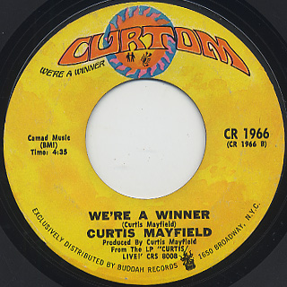 Curtis Mayfield / Get Down c/w We're A Winner back