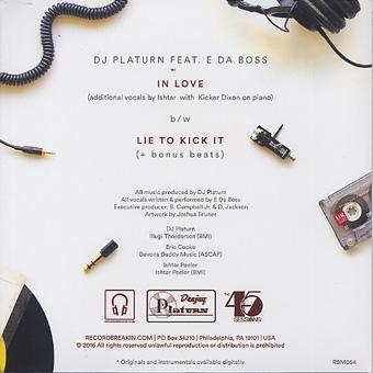 DJ Platurn ft. E Da Boss / In Love back