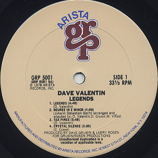 Dave Valentin / Legends label