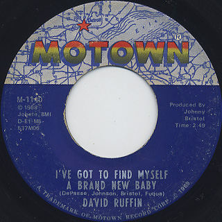 David Ruffin / My Whole World Ended (The Moment You Left Me) back