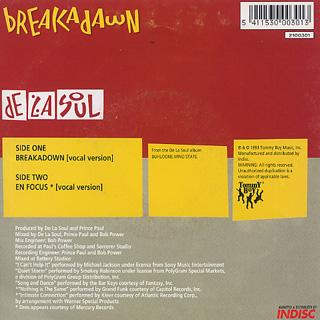 De La Soul / Breakadawn c/w En Focus back